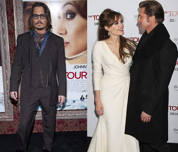 Visita Entertainment Bites Angelina Jolie Y Johnny Depp Estrenan The Tourist En Nueva York
